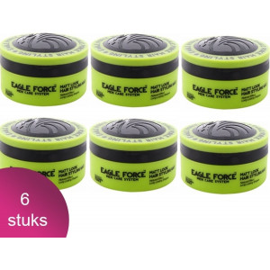 Eagle Force Hair Styling Wax Matt Look 6 Verpakking - 150ml