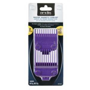 ANDIS Barber Master Dual Magnetic Hair Clipper 2 Pc Comb Guide Set CL-01900
