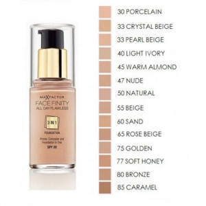Max Factor Face Finity 3 in 1 Foundation 30ml Soft Honey 77