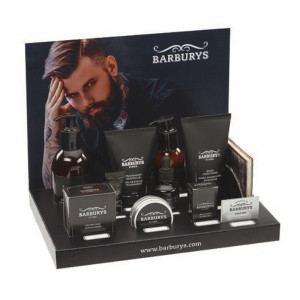GEVULDE MINI DISPLAY BARBURYS X 1SET PRODUCTEN