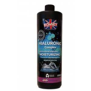 Ronney Professional Shampoo Hialuronic Complex Moisturizing For Dry And Damaged Hair 1000 ml