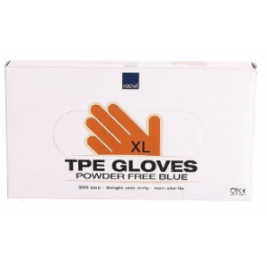 Abena TPE gloves powder free blue gloves XL